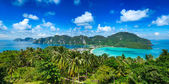 Panorama of tropical island — Stock Photo