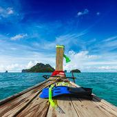 Zestaw z rurką w łodzi — Zdjęcie stockowe