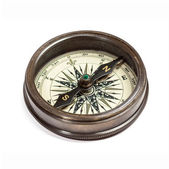 Old vintage compass isolated — Stock Photo