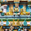 Sculptures on Hindu temple gopura (tower) — Stock Photo #13631605