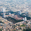 Hindu temple and indian city aerial view - Stock Photo