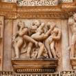 Stock Photo: Erotic sculptures, Khajuraho, India