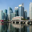 Stock Photo: Singapore business center panorama