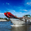 Boat. Mekong river delta, Vietnam - Stock Photo