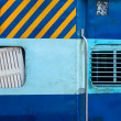 Indian train second class coach - Stock Photo