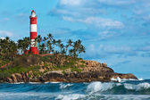 Kovalam (Vizhinjam) lighthouse. Kerala, India — Foto Stock