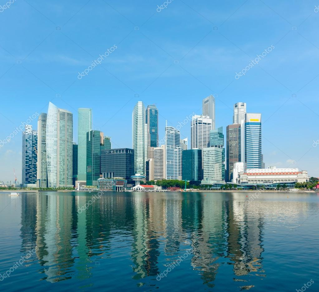 Modern city skyline of business district downtown in day — Stock Photo #13631829