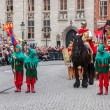 Procession of the Holy Blood on Ascension Day in Bruges (Brugge) — Photo