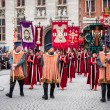 Procession of the Holy Blood on Ascension Day in Bruges (Brugge) - 图库照片