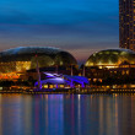 Esplanade Theatre in Singapore — Stock Photo #25472691