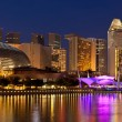 Stock Photo: Singapore cityscape night panorama