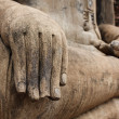 Buddha statue hand close up detail — Stock Photo #25475651