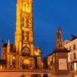 Stock Photo: Saint Bavo Cathedral in the evening. Sint-Baafsplein, Ghent, Bel