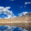 Mountain lake in Himalayas - Stock Photo