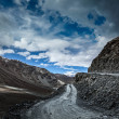 Stock Photo: Dirt road in Himalayas.
