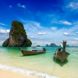 Long tail boats on beach, Thailand — Stock Photo #25475771