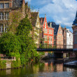 Ghent canal. Ghent, Belgium — Stock Photo #25475819