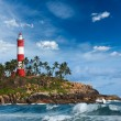 Kovalam (Vizhinjam) lighthouse. Kerala, India - Stock Photo