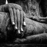 Buddha statue hand close up detail — Stock Photo #25475883