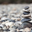 Zen balanced stones stack - Stock Photo