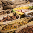 Spices in Indian market - Stock Photo