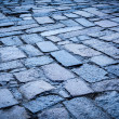 Cobblestone pavement background - Stock Photo