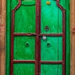 Wooden old door vintage background  — Stock Photo