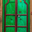 Wooden old door vintage background - Stock Photo