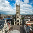 Saint Bavo Cathedral. Ghent, Belgium - Stock Photo