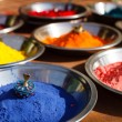 Stockfoto: Kumkum powder, India