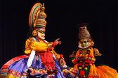Kathakali dansı. bhava bhavanam festivali. eylül 2009. chenna — Stok fotoğraf