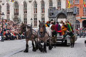 Procession of the Holy Blood on Ascension Day in Bruges (Brugge) — Foto Stock
