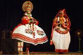 Kathakali 舞蹈。bhava bhavanam 节。2009 年 9 月。chenna — 图库照片