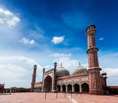 Jama Masjid - largest muslim mosque in India. Delhi, India — Stock Photo