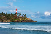 Kovalam (Vizhinjam) lighthouse. Kerala, India — Stock Photo