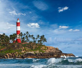 Kovalam (Vizhinjam) lighthouse. Kerala, India — Stockfoto