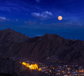 Night view of Leh, Ladakh, India — Stock Photo