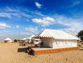 Luxury tent camp, India — Foto Stock