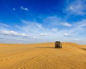 Desert safari background — Stock Photo