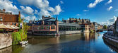 Ghent canal. Ghent, Belgium — Stock Photo
