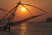 日落大道的中国网袜。高知、 喀拉拉邦、 印度 — 图库照片