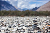 Zen balanced stones stack — Stockfoto