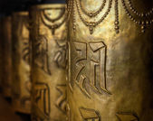 Buddhist prayer wheels — 图库照片