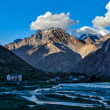 Foto Stock: Lahaul valley in Himalayas