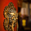 Stock Photo: Doorknob of Buddhist temple