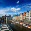 Belgium medieval european city — Stock Photo