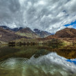 Mountain lake Lohan Tso in Himalayas — Stock Photo
