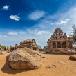 Stock Photo: Five Rathas. Mahabalipuram, Tamil Nadu, South India