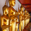 Standing Buddha statues, Thailand — Stock Photo