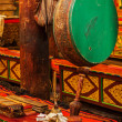 Ritual drum in Hemis monastery. Ladakh, India — Stock Photo #34471763